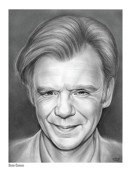 Wall Art - Drawing - David Caruso by Greg Joens