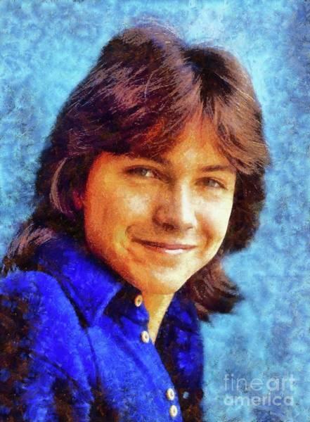 Wall Art - Painting - David Cassidy, Hollywood Legend by Sarah Kirk