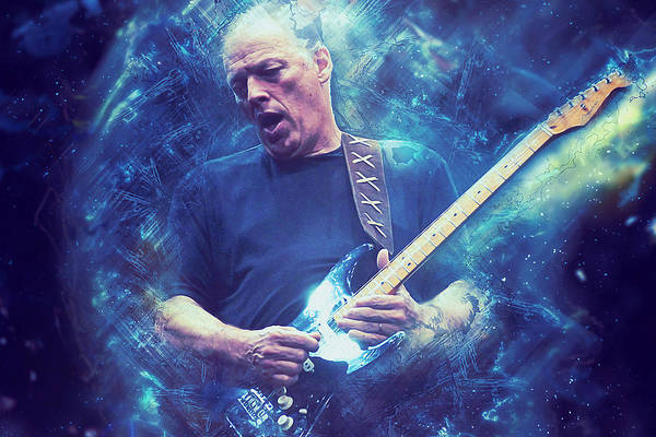 David Gilmour Painting - David Gilmour - 01 by Andrea Mazzocchetti