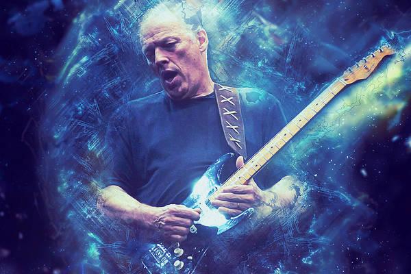 Progressive Rock Painting - David Gilmour - 01 by Andrea Mazzocchetti