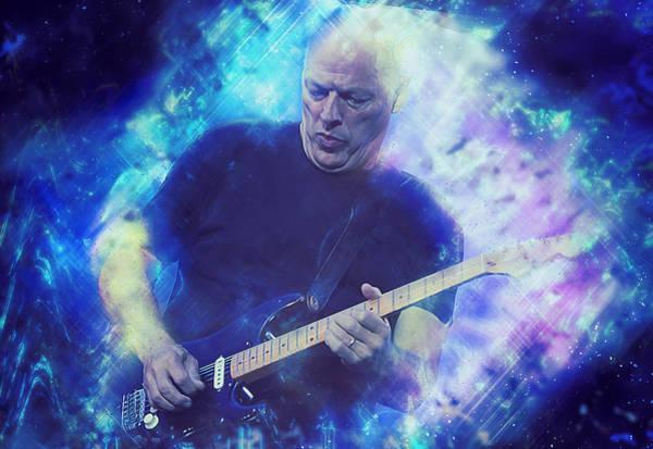 Progressive Rock Painting - David Gilmour - 02 by Andrea Mazzocchetti