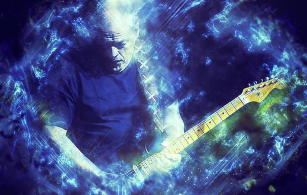 Progressive Rock Painting - David Gilmour - 03 by Andrea Mazzocchetti