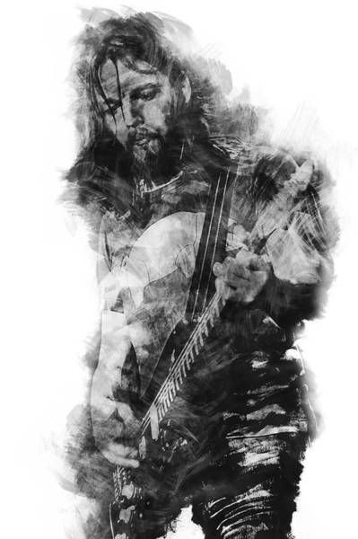 David Gilmour Painting - David Gilmour - 07 by Andrea Mazzocchetti