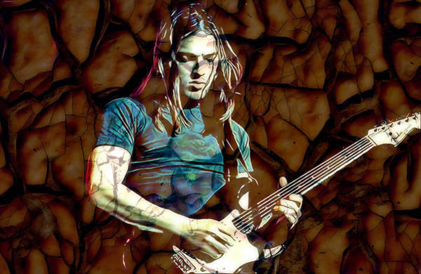 Mixed Media - David Gilmour Pink Floyd by Marvin Blaine