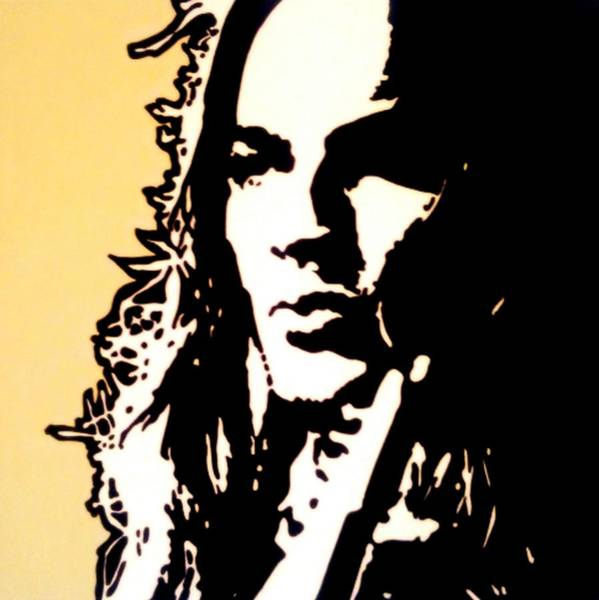 David Gilmour Painting - David Gilmour Pink Floyd Portrait Painting by Artista Fratta