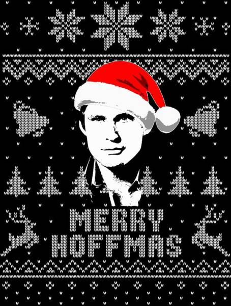 Wall Art - Digital Art - David Hasselhoff Merry Hoffmas Christmas Shirt by Filip Hellman