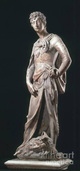 Wall Art - Photograph - David, Marble Statue by Donatello
