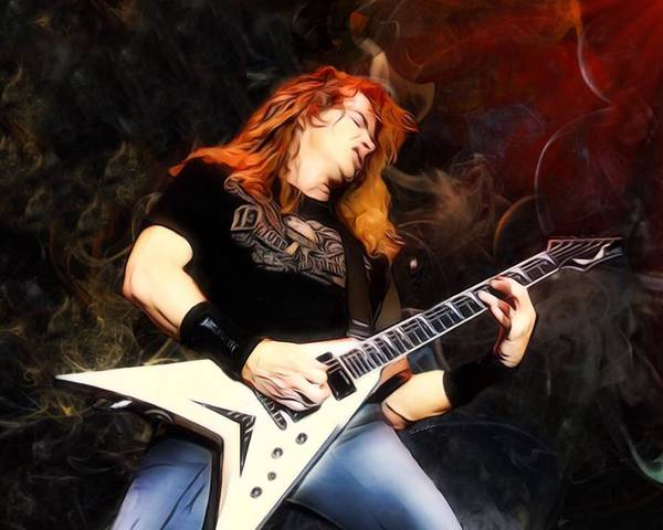 Thrash Metal Wall Art - Digital Art - David Mustaine Portrait by Scott Wallace Digital Designs