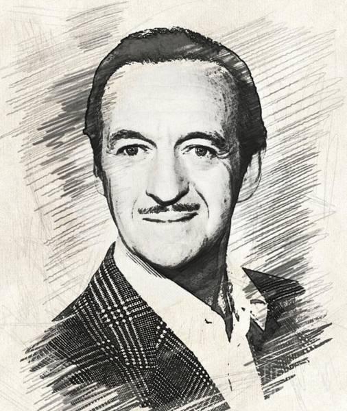 Wall Art - Digital Art - David Niven, Vintage Actor by Esoterica Art Agency