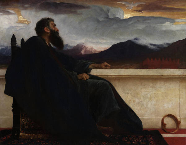 Wall Art - Painting - David, Oh, That I Had Wings Like A Dove, For Then Would I Fly Away, And Be At Rest by Frederic Leighton