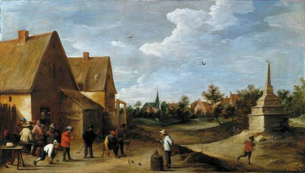 Petanque Wall Art - Painting - David Teniers / 'the Skittles Game', Ca. 1645, Flemish School. by David Teniers the Younger -1610-1690-