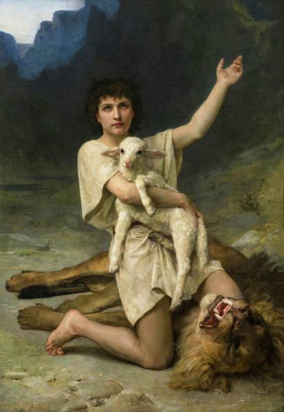 Victorious Painting - David The Shepherd by Elizabeth Jane Gardner