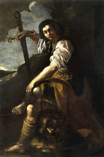 Wall Art - Painting - David With The Head Of Goliath by Artemisia Gentileschi