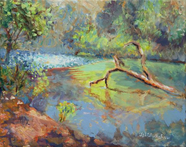 Painting - Davidson River Sparkle by Lisa Blackshear