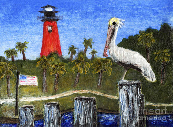 Painting - Aceo Dawn At Jupiter Inlet Lighthouse Florida 52a by Ricardos Creations
