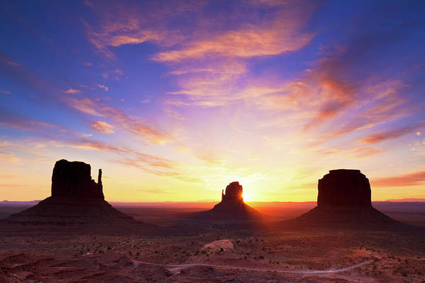 Dawn Photograph - Dawn At Monument Valley by Glowingearth