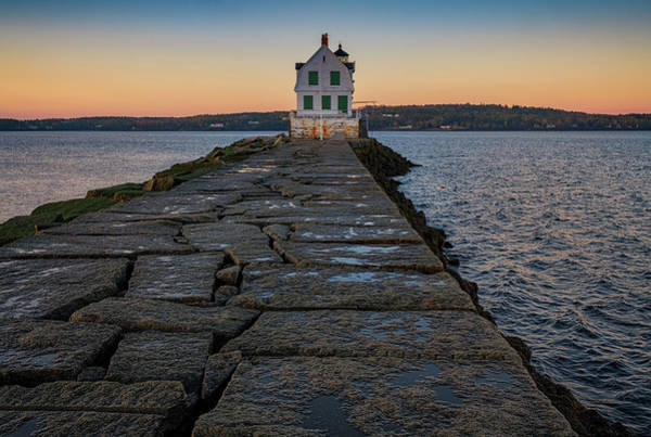Wall Art - Photograph - Dawn At Rockland Breakwater by Rick Berk