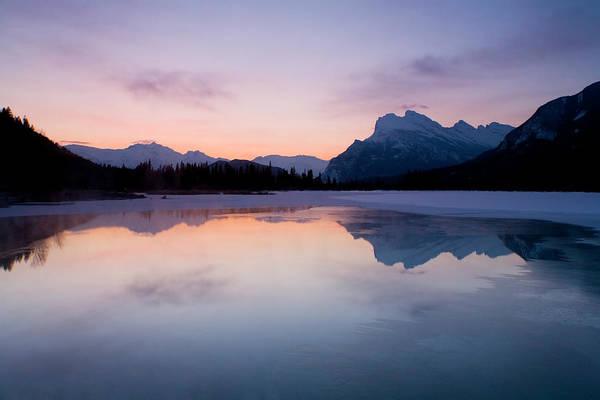 Dawn Photograph - Dawn At Vermilion Lake, Banff National by Tongshan