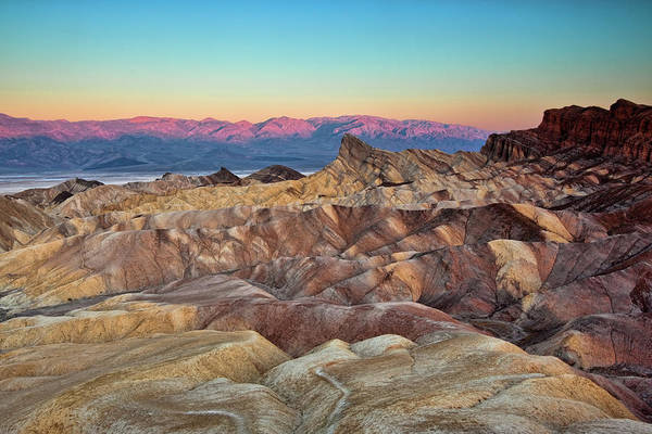 Furnace Creek Photograph - Dawn At Zabriskie Point by Mimi Ditchie Photography