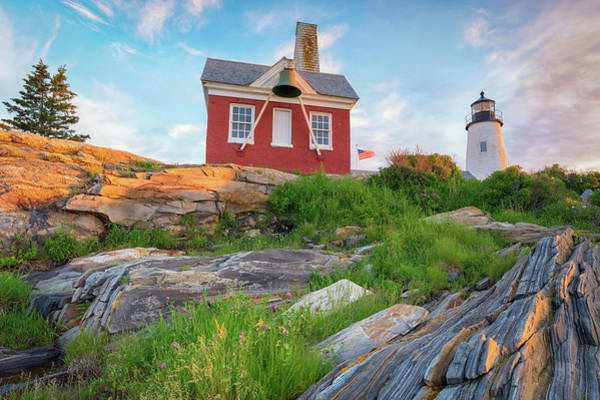 Photograph - Dawn Breaking At Pemaquid Point Lighthouse by Kristen Wilkinson