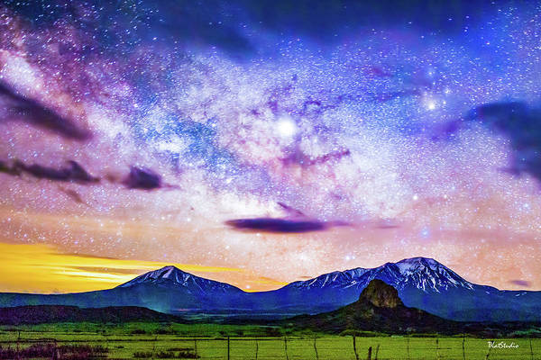 Photograph - Dawn Breaking At The Spanish Peaks by Tim Kathka