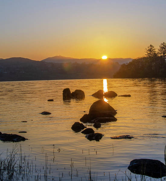 Photograph - Dawn In Donegal - Lough Eske by Bill Cannon