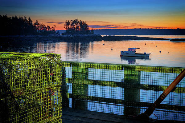 Photograph - Dawn In Five Islands Harbor by Rick Berk