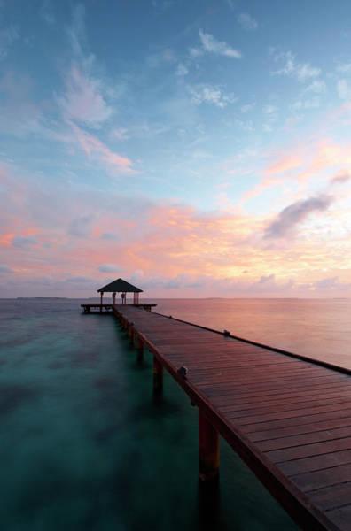 Dawn Photograph - Dawn In The Maldives by Simonbradfield