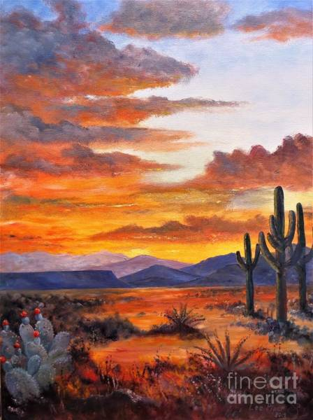 Wall Art - Painting - Dawn In The Southwest by Lee Piper