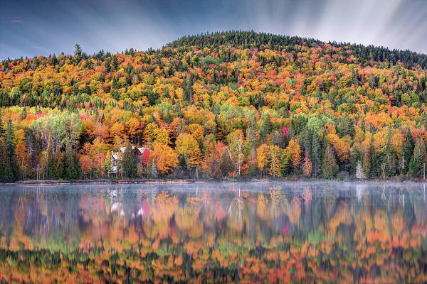 Photograph - Dawn Of Autumn In Canada by Pierre Leclerc Photography