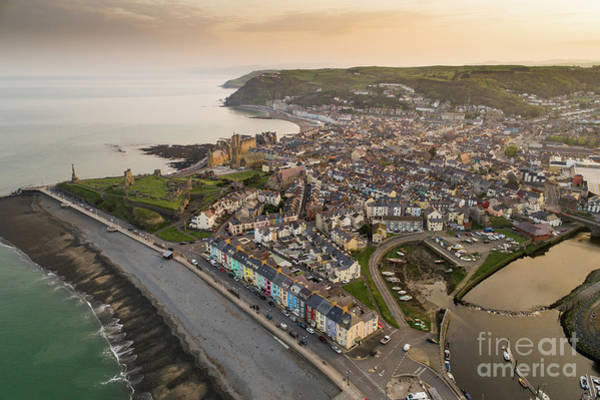 Photograph - Dawn Over Aberystwyth Wales by Keith Morris