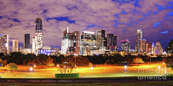 Cesar Wall Art - Photograph - Dawn Panorama Of Downtown Austin Skyline And Lady Bird Lake - Austin Texas by Silvio Ligutti