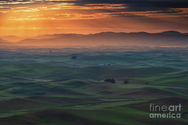 Wall Art - Photograph - Dawn Rays Over The Palouse by Mike Dawson