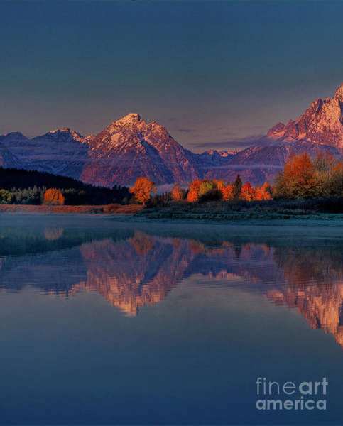 Photograph - Dawn Reflections Tetons Oxbow Bend Grand Tetons Np  by Dave Welling