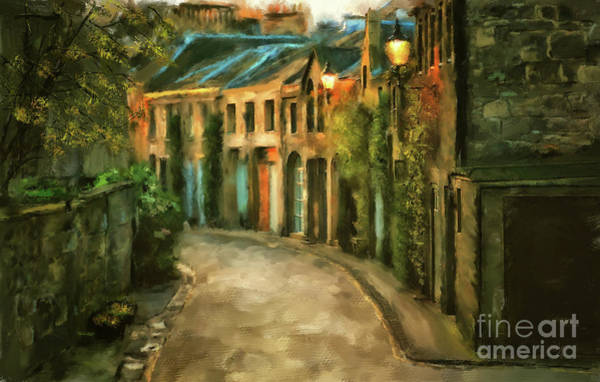 Wall Art - Digital Art - Dawn Takes Edinburgh by Lois Bryan