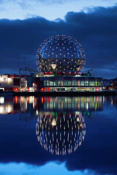 False Creek Wall Art - Photograph - Dawn View Of False Creek And Science by Danita Delimont