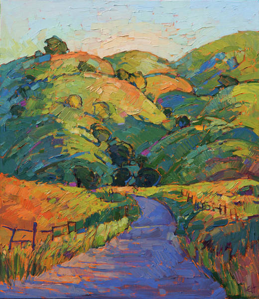 Wall Art - Painting - Dawning Hills by Erin Hanson