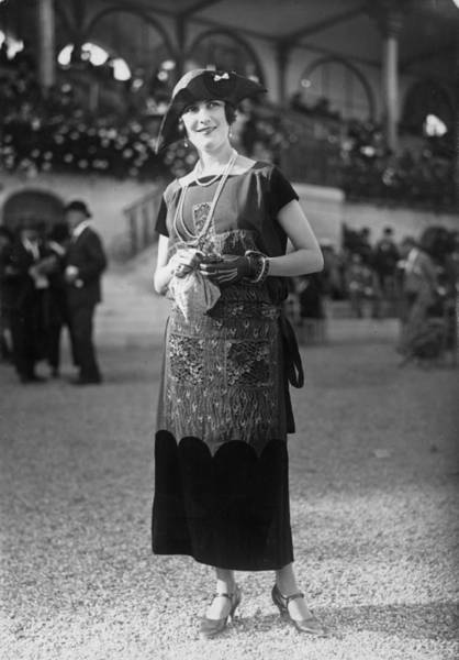 1923 Photograph - Day Dress by Seeberger Freres