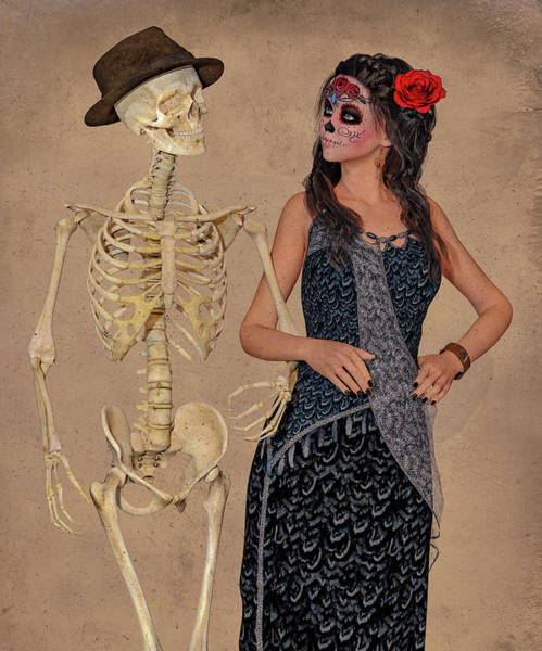 Wall Art - Digital Art - Day Of The Dead Costume Party by Betsy Knapp