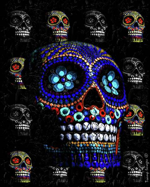 Digital Art - Day Of The Dead by Wesley Nesbitt