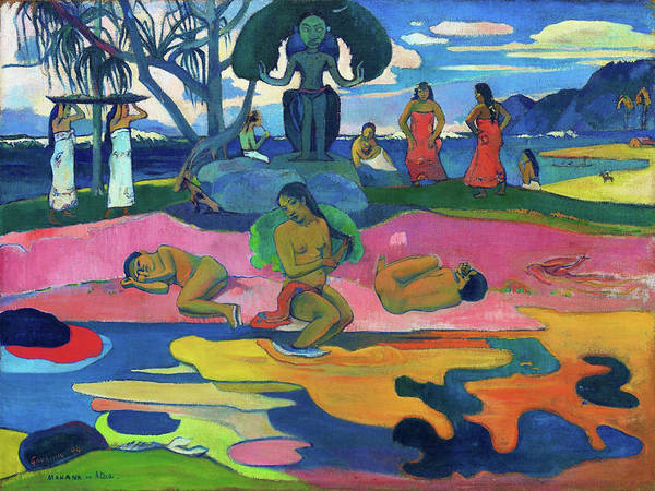 Girlfriend Painting - Day Of The God - Digital Remastered Edition by Paul Gauguin