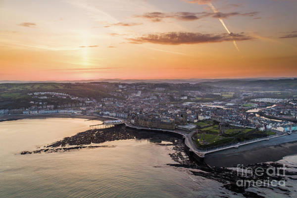 Photograph - Daybreak Over Aberystwyth Wales by Keith Morris