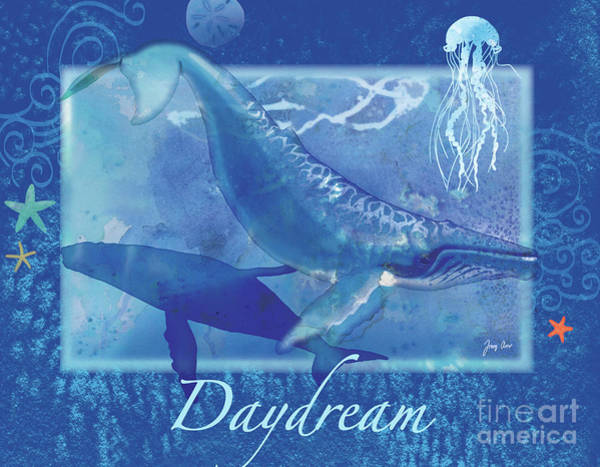 Fox Painting - Daydream Whales by Tracy Herrmann