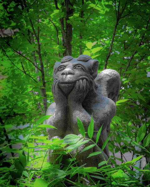 Photograph - Daydreaming Gargoyle by Lora J Wilson