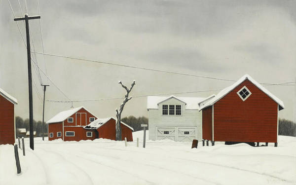 Wall Art - Painting - Daylight At Russel's Corner by George Copeland Ault