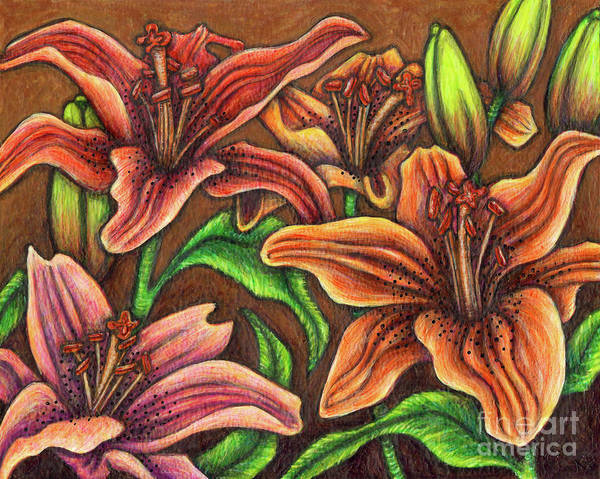 Painting - Daylilies by Amy E Fraser