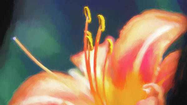 Digital Art - Daylily Stamen Watercolor by Jason Fink