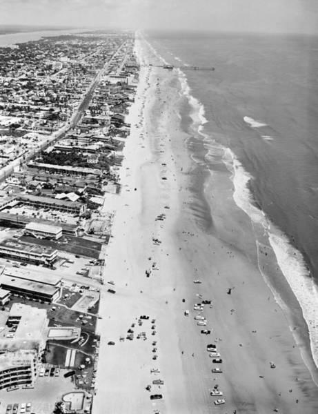 Daytona Photograph - Daytona Beach by Leonard G Alsford