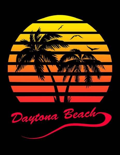 Wall Art - Digital Art - Daytona Beach Sunset by Filip Hellman