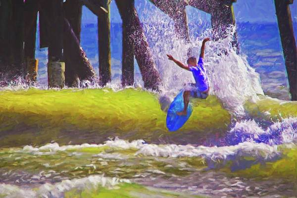 Photograph - Daytona Pier Proam Surfer by Alice Gipson